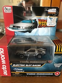 Back to the future Electric slot car/includes display case Omaha, 68114