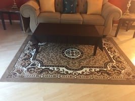 Like new - Brown, black and white rug  5 x 7