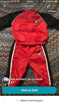 red and black Adidas track pants Conyers, 30094