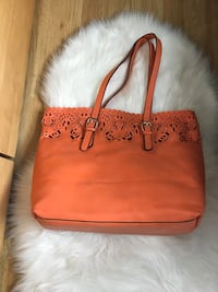 Orange leather purse with small clutch Waterloo, N2T 1Z9