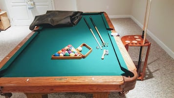 Pool table with cover
