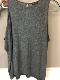 Grey Babaton Blouse Size M Red Deer