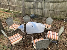 Outdoor Glass dinner table set
