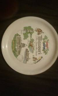 round white and green ceramic plate St. Clair County, 62240