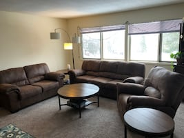 Couch, Loveseat, Recliner, Coffee Table, Side Tables