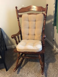 Rocking chair and cushions