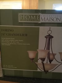 "Brand New Home Collections Torino 24"" Chandlier Caledon, L7E"