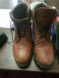 Brown leather timberlands Edmonton, T6L 5B5