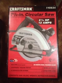 Unopened craftsman circular saw with box