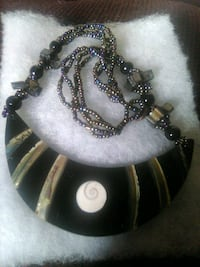 Abalone shell necklace 18 in