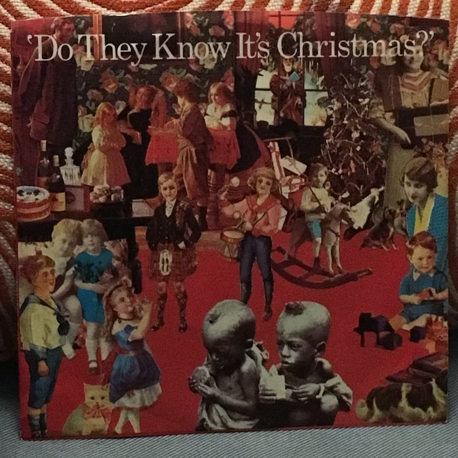 Band Aid do they know it's christmas 7-inch vinyl record feed the worl