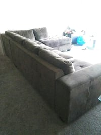 NEEDS TO GO ASAP! tufted brown sectional sofa 2330 mi