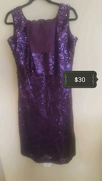 purple glittered spaghetti strap dress Edmonton, T6T