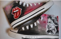 Customized shoes, Rolling Stones hand painted, converse style size 12 Thornton, 80241