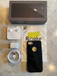 iPhone 8 Accessories - New Charger & Earbuds + Ringke Fusion Case Nashville, 37216