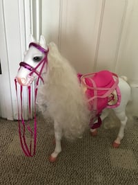 Pink and white horse for baby dolls to ride Urbana, 43078