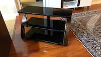 black wooden TV stand with mount Coquitlam, V3K