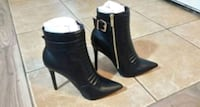 Brand new La Republic black leather heels Whitchurch-Stouffville, L4A 5A4