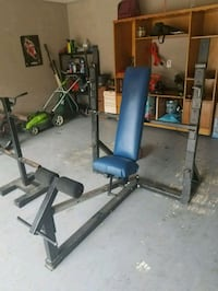 Weider Olympic Weight Bench and Weight Stand