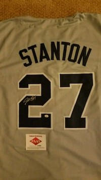 GIANCARLO STANTON SIGNED YANKEE JERSEY W PAAS COA! Manchester Township, 08759