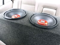 2 duel 12 inch subs and box 141 mi