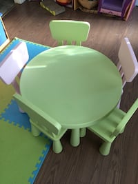 Ikea kids tables and 5 chairs St Albert, T8N 2L8