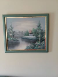 painting of house and trees Owings, 20736