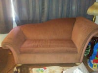 brown fabric 2-seat sofa 38 mi