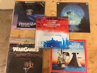 5 Laserdiscs as pictured New and Like New Auburn