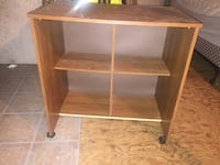 brown wooden 2-layer shelf Winnipeg, R3G 3P6