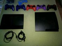 black Sony PS3 slim console with controllers Phoenix, 85051