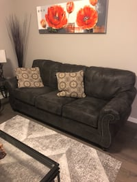 Black fabric 2-seat sofa Calgary, T3R 0T8