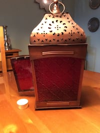 Brown steel candle lantern Laval