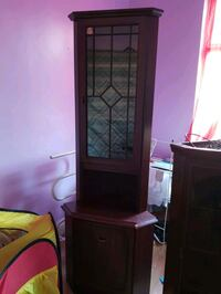 brown wooden cabinet with mirror South Yorkshire, DN1 2BD