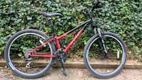 red and black hardtail mountain bike Arlington, 22207