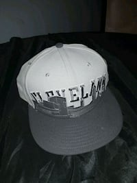 white and black fitted cap Akron, 44314