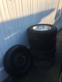 4 Wheels 235/70R16 - 5x114.3 in Excellent Condition and a Spear 19 mi