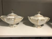 Two white-and-gold ceramic bowls Summerville