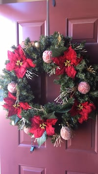 red and green Christmas wreath Ashburn, 20147