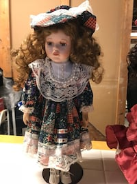 porcelain doll in black and white dress Troy, 48085