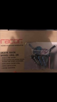 Skate & Helmet rack, perfect for garage organizing  Oakville, L6L 0W6