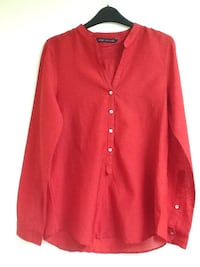 Red button-up long sleeve shirt London, W9 3BQ