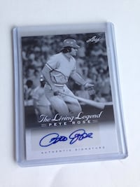 Pete rose leaf autographed signed baseball card Cathedral City, 92234