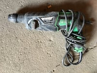 Green and black corded angle grinder Edmonton
