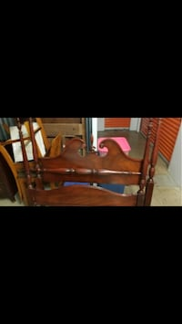 1950's Vintage Cherry Wood Bedroom Set that includes Full Size Head & Foot Board; Two Nightstands; Two Dressers; Fitted Cut Glass Coverings Washington, 20019