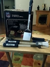 Miami Dolphin Waffle grill, and BBQ utensils Triangle, 22172