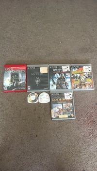 five Sony PS3 game cases; two Sony PSP game discs Washington, 20032