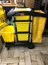 New Rubbermaid cleaning cart. Baltimore, 21224