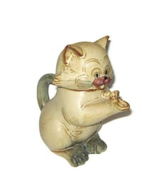 Vintage Japan Red Clay Pottery Cat Teapot  Edmonton