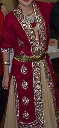 red and silver studded long sleeve dress London, N17 0TA
